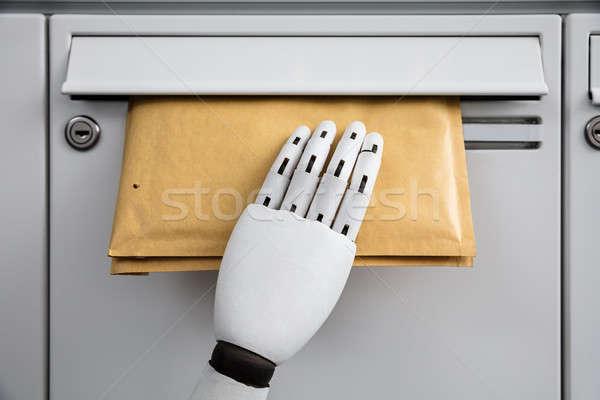 Robot kopercie poczty robotic strony Zdjęcia stock © AndreyPopov