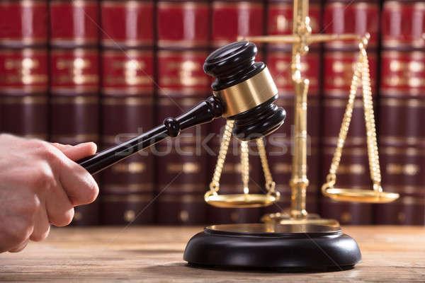 Сток-фото: судья · стороны · человека · древесины · правосудия · черный