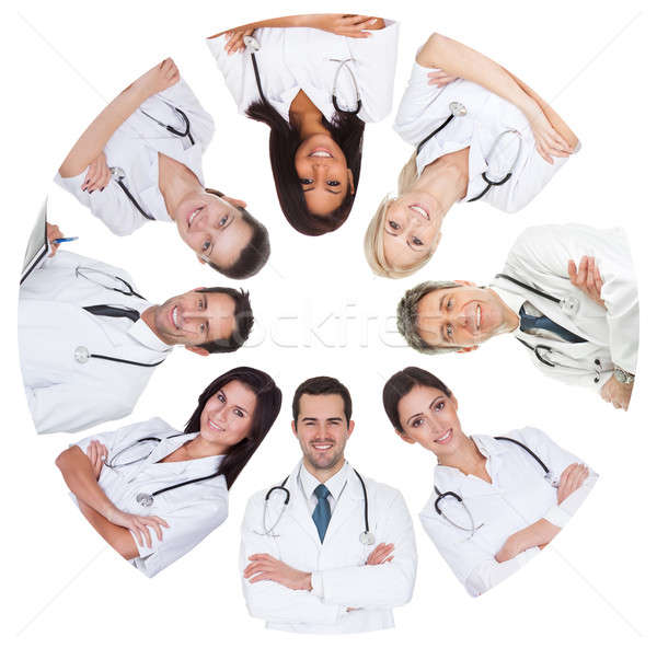 Low angle view of diverse group of doctors Stock photo © AndreyPopov