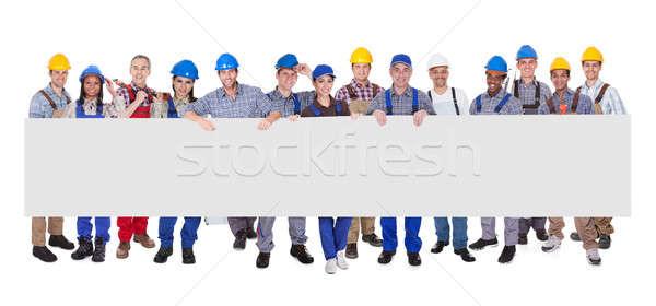 Сток-фото: группа · деловые · люди · баннер · профессиональных · Постоянный