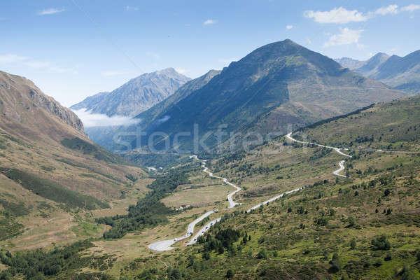 Panoramisch berg Andorra foto hemel Stockfoto © AndreyPopov