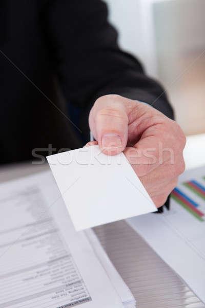 Senior Business Man Offering Visiting Card Stock photo © AndreyPopov