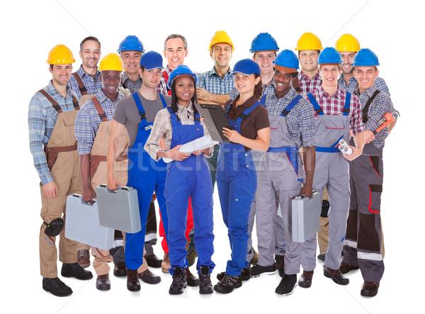 Manual trabajadores blanco panorámica tiro pie Foto stock © AndreyPopov