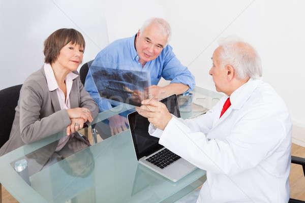 Photo stock: Dentiste · xray · couple · de · personnes · âgées · Homme · dentaires