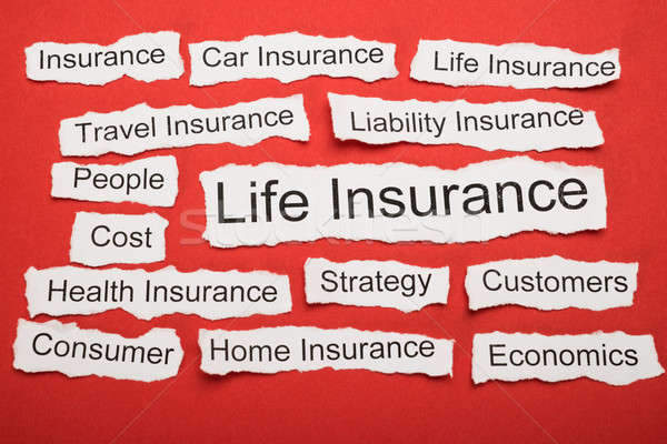 Life Insurance Text On Piece Of Torn Paper Stock photo © AndreyPopov