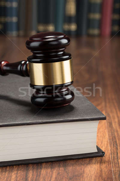 Gavel With Book Stock photo © AndreyPopov