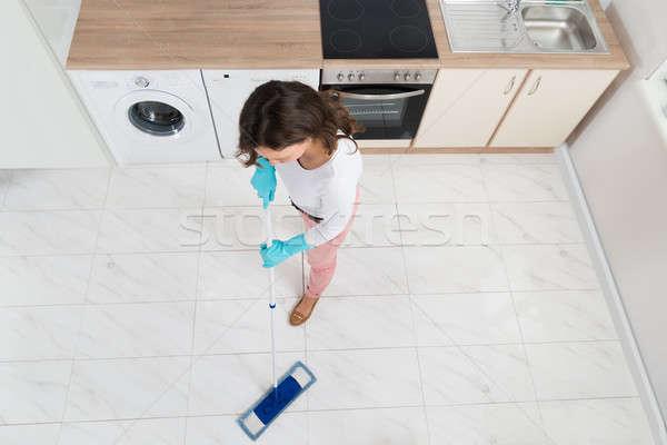 Woman Mopping Floor Stock photo © AndreyPopov