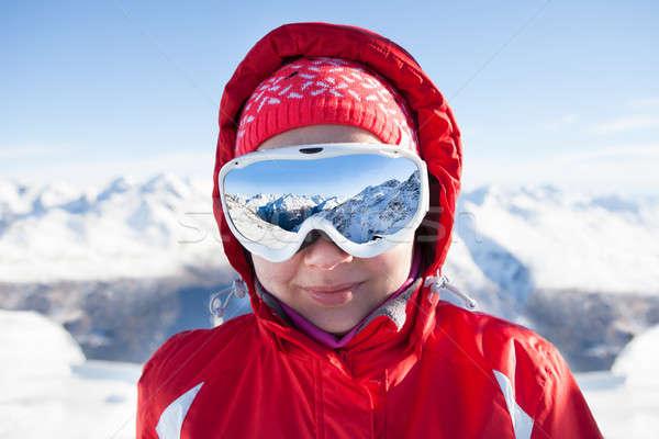 スキーヤー 着用 スキー 眼鏡 肖像 女性 ストックフォト © AndreyPopov