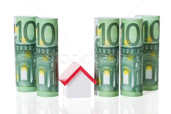 Сток-фото: дома · модель · евро · отмечает · белый