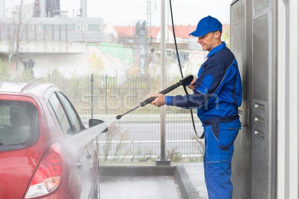 Wysoki ciśnienie wody jet mycia samochodu Zdjęcia stock © AndreyPopov