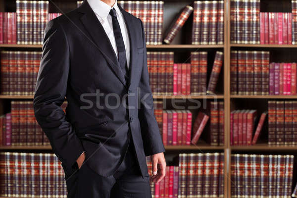 Midsection Of Lawyer With Hand In Pocket Stock photo © AndreyPopov