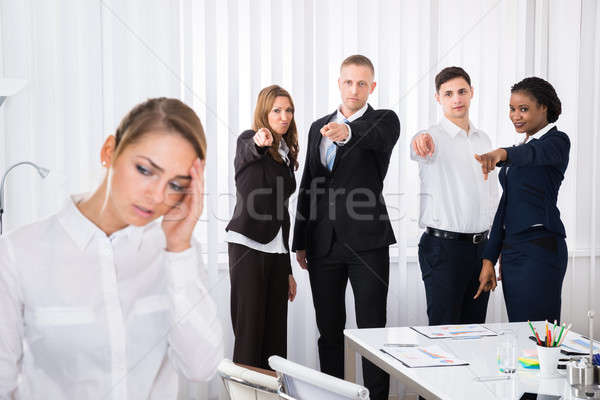 Frustrated Female Colleague In Office Stock photo © AndreyPopov