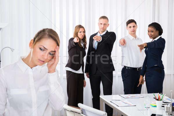 Frustrado feminino colega escritório grupo Foto stock © AndreyPopov