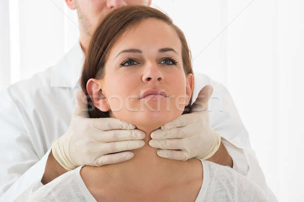 Woman Getting Thyroid Gland Control Stock photo © AndreyPopov