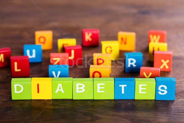 Diabetes Text On Blocks Stock photo © AndreyPopov