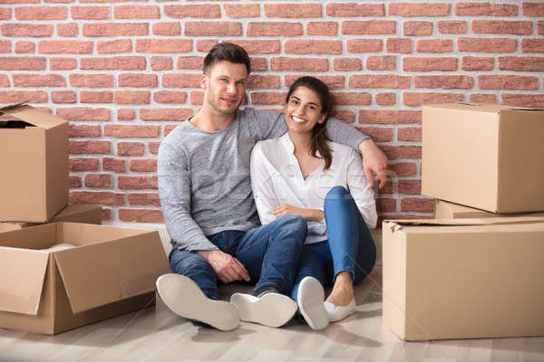 Portrait Of Couple In Their New Home Stock photo © AndreyPopov