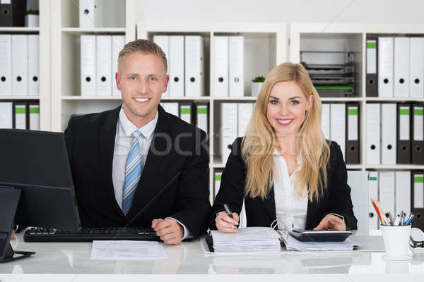 Two Accountants Working In Office Stock photo © AndreyPopov