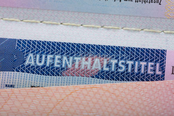 Texte passeport vue autorisation séjour Photo stock © AndreyPopov