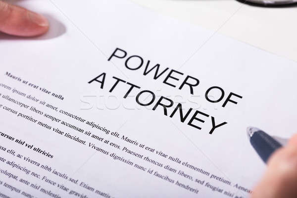 Close-up Of Power Of Attorney Form Stock photo © AndreyPopov