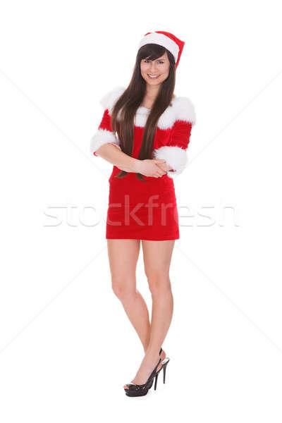 Portrait Of Woman In Santa Clause Costume Stock photo © AndreyPopov