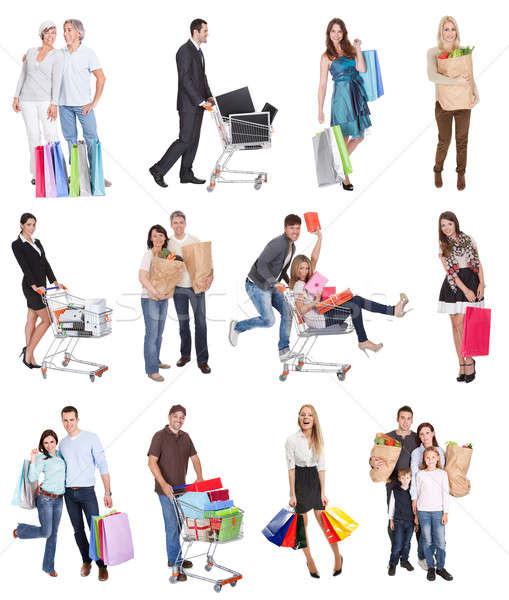 Shopping people Stock photo © AndreyPopov