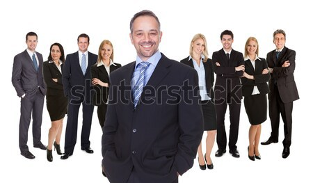 üzlet cégvezetők partnerek sokoldalú profi áll Stock fotó © AndreyPopov