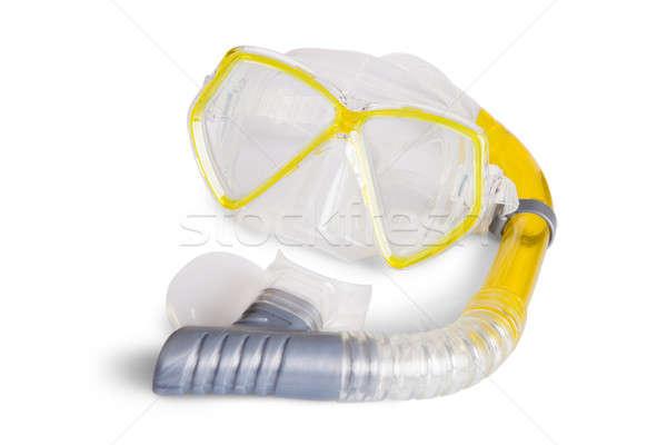 Snorkel óculos de proteção isolado branco água Foto stock © AndreyPopov