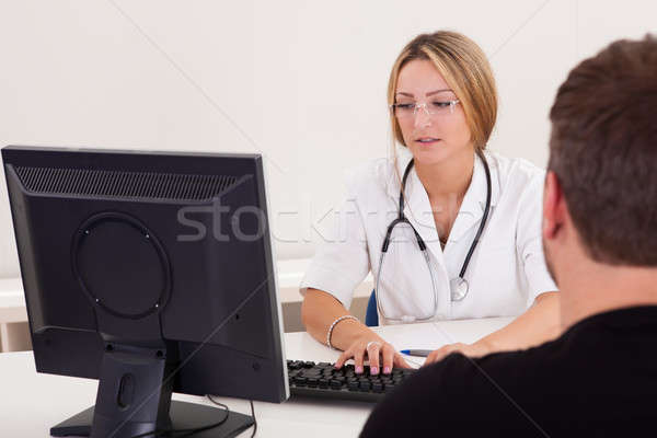 Physician explains the procedure Stock photo © AndreyPopov