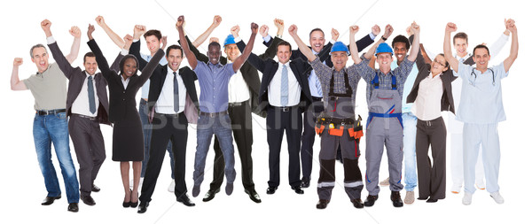 Excited People With Different Occupations Celebrating Success Stock photo © AndreyPopov