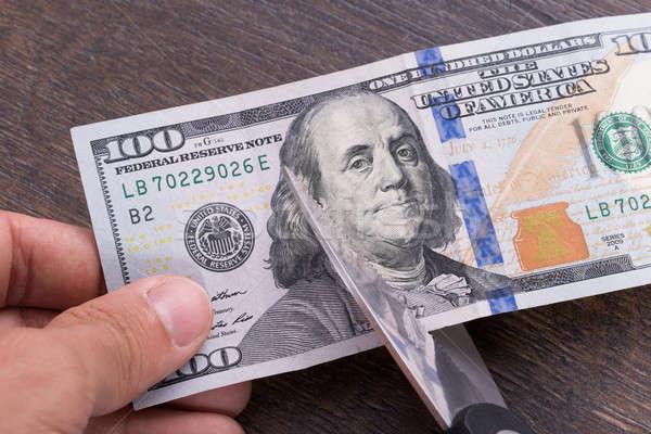 Dólar moeda 100 projeto de lei financiar Foto stock © AndreyPopov