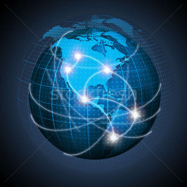 North American And South America Connected On Globe Stock photo © AndreyPopov