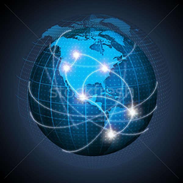 Settentrionale americano sud america mondo globalizzazione fonte Foto d'archivio © AndreyPopov