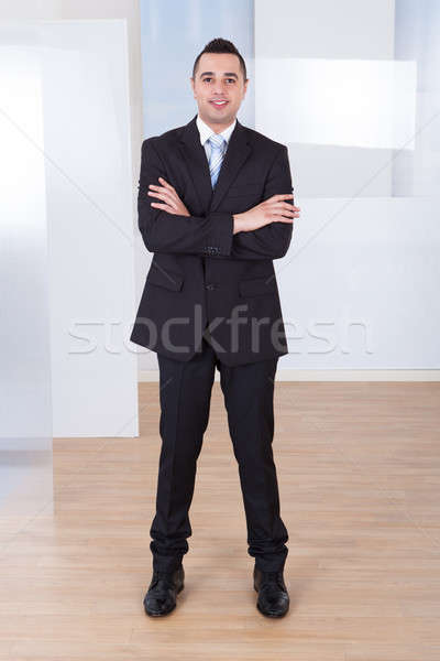 Handsome Businessman Standing Arms Crossed Stock photo © AndreyPopov