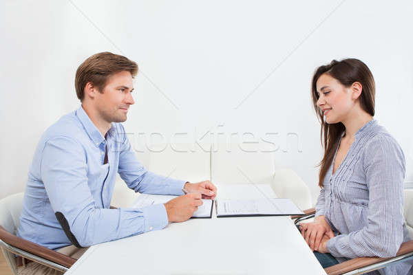 Businessman Looking At Candidate During Interview Stock photo © AndreyPopov