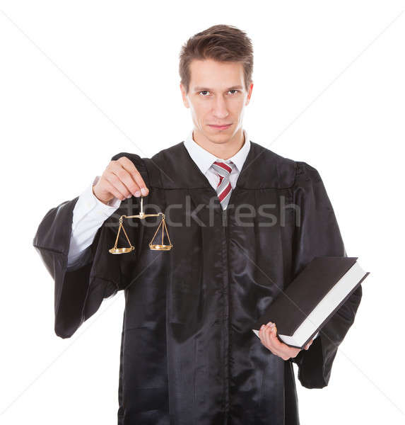Judge With Scales And Book Stock photo © AndreyPopov