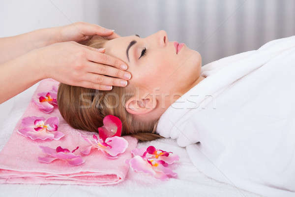 голову массаж цветок глазах Сток-фото © AndreyPopov