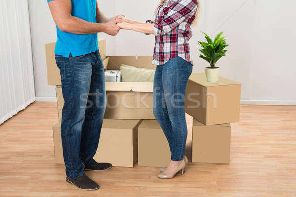 Young Couple In New Home Stock photo © AndreyPopov
