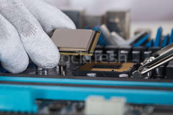 人 セントラル プロセッサ マザーボード クローズアップ ストックフォト © AndreyPopov