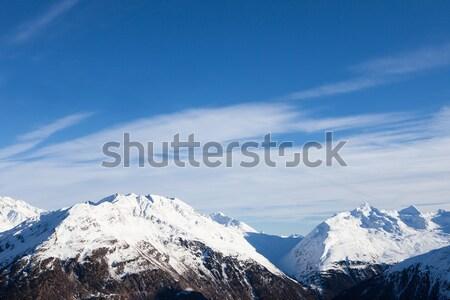 Alpine bergen alpen natuur sneeuw ijs Stockfoto © AndreyPopov