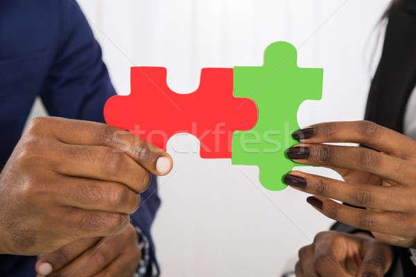 Pessoas negócio peças do puzzle homem Foto stock © AndreyPopov