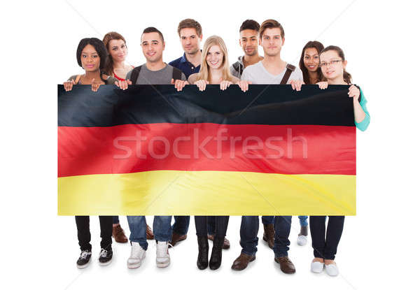 Young People Holding German Flag Stock photo © AndreyPopov