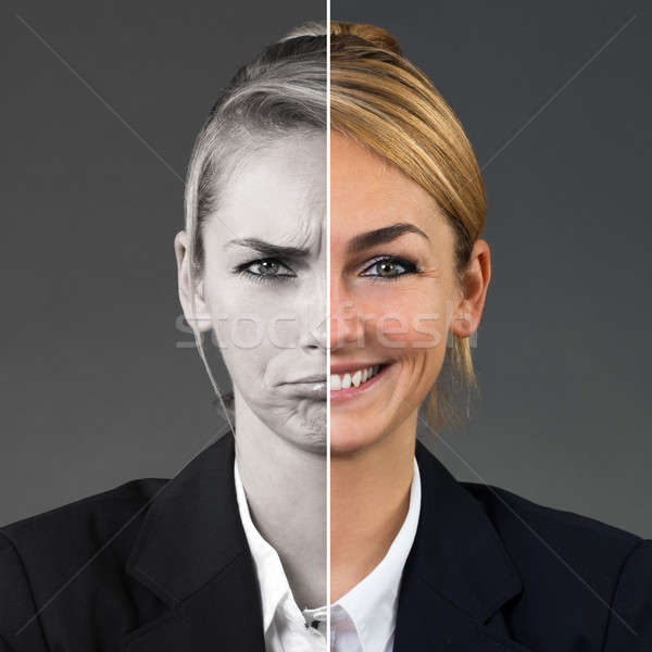Two Side Face Of Woman Stock photo © AndreyPopov