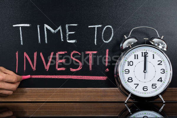 Time To Invest Concept Written On Blackboard Stock photo © AndreyPopov