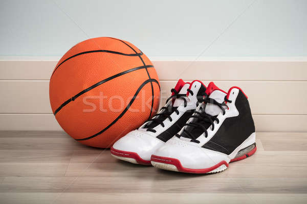 Sport Shoes And A Basketball Stock photo © AndreyPopov