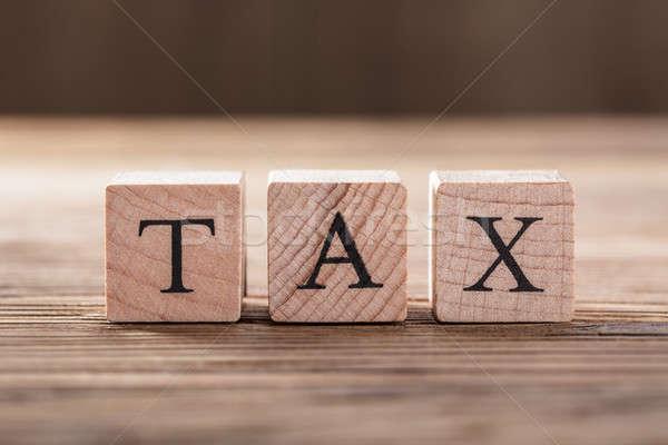Impuesto vista bloques financieros Foto stock © AndreyPopov