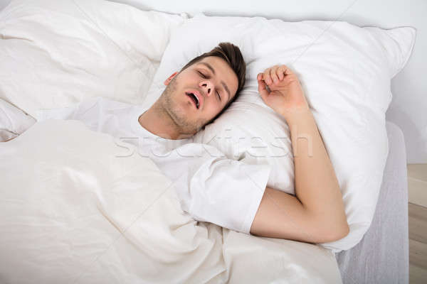устал молодым человеком храп мнение глубокий спальный Сток-фото © AndreyPopov