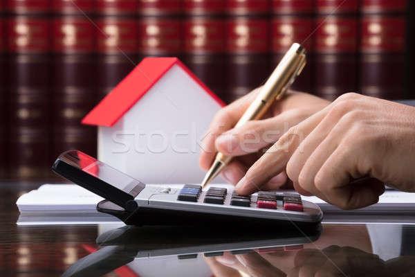 人の手 税 家 モデル オフィス 手 ストックフォト © AndreyPopov