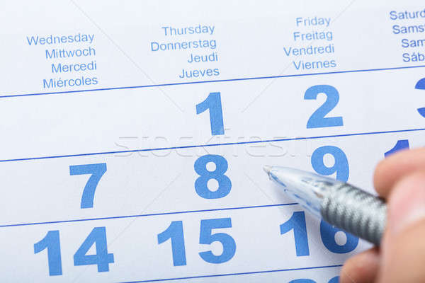 High Angle View Of Calendar Stock photo © AndreyPopov
