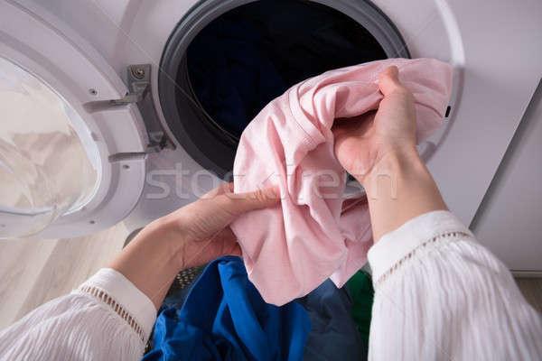 стороны синий ткань стиральная машина грязные Сток-фото © AndreyPopov