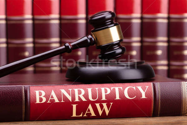 Csőd törvény könyv bíró kalapács fából készült Stock fotó © AndreyPopov
